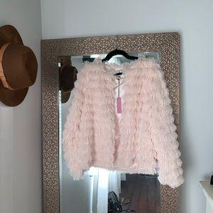 NWT boutique fringe jacket